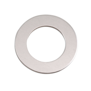 "Metal Stamping Blanks Aluminum Washer, 25mm (1"") with 16mm (.63"") ID, 18g, Pk of 5"