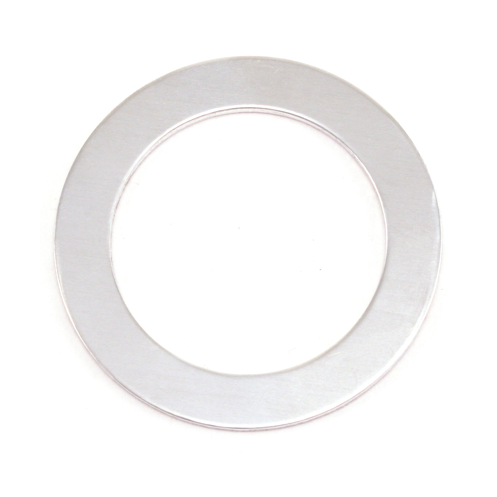 "Metal Stamping Blanks Aluminum Washer , 31.5mm (1.24"") with 22mm (.87"") ID, 18g, Pack of 5"