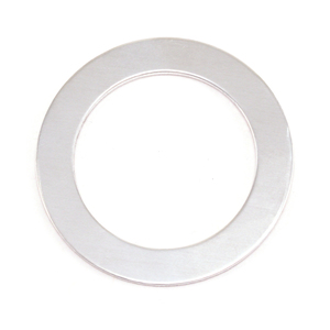 "Metal Stamping Blanks Aluminum Washer , 31.5mm (1.24"") with 22mm (.87"") ID, 18g, Pk of 5"