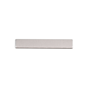 "Metal Stamping Blanks Aluminum Rectangle, 30.5mm (1.20"") x 5mm (.20""), 18 Gauge, Pack of 5"