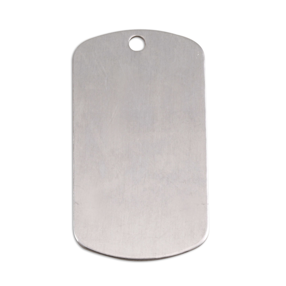 "Metal Stamping Blanks Aluminum Dog Tag with Hole, 35mm (1.38"") x 18mm (.71""), 18g, Pk of 5"