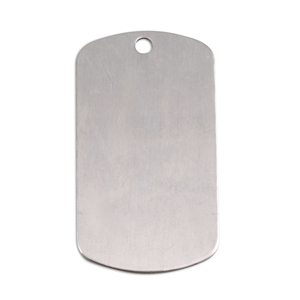 "Metal Stamping Blanks Aluminum Dog Tag, 35mm (1.38"") x 18mm (.71""), 18g"
