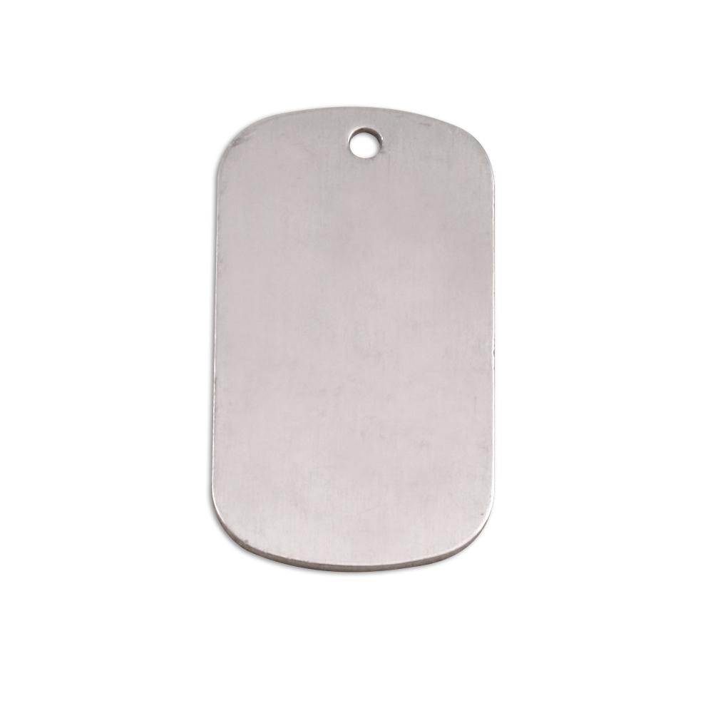 Metal Stamping Blanks Aluminum Medium Dog Tag, 18g