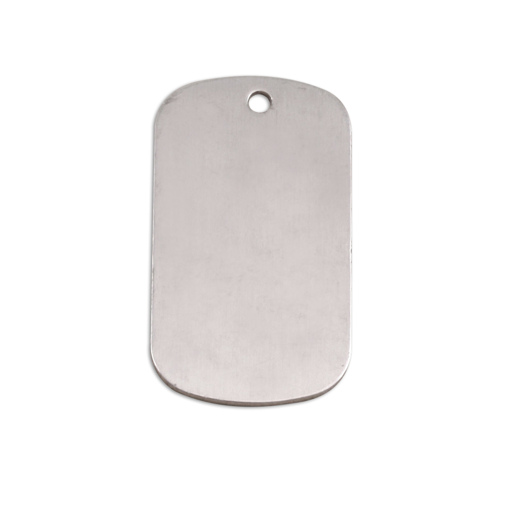 "Metal Stamping Blanks Aluminum Dog Tag, 29mm (1.14"") x 16mm (.63""), 18g, Pack of 5"