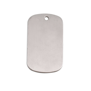 "Metal Stamping Blanks Aluminum Dog Tag, 29mm (1.14"") x 16mm (.63""), 18g, Pk of 5"