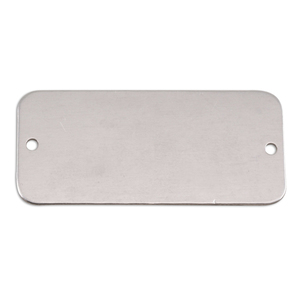 "Metal Stamping Blanks Aluminum Rectangle with Holes, 44.5mm (1.75"") x 20mm (.79""), 18g, Pk of 5"