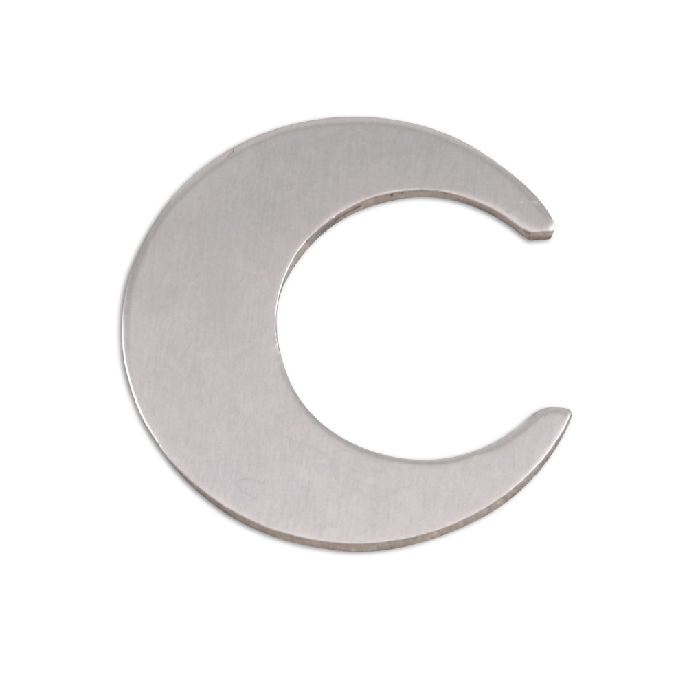 "Metal Stamping Blanks Aluminum Crescent Moon, 25.4mm (1""), 18g, Pk of 5"