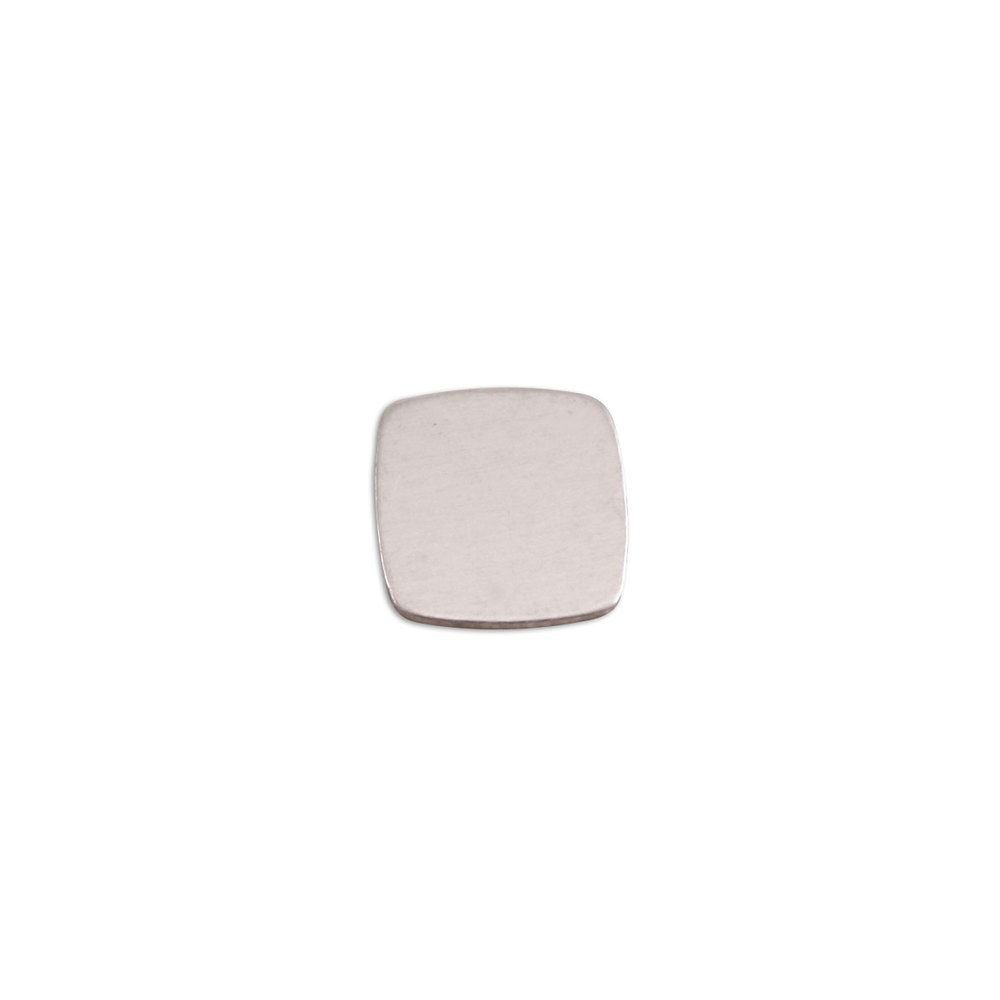 "Metal Stamping Blanks Aluminum Rounded Square,  11mm (.43""), 18g, Pack of 5"