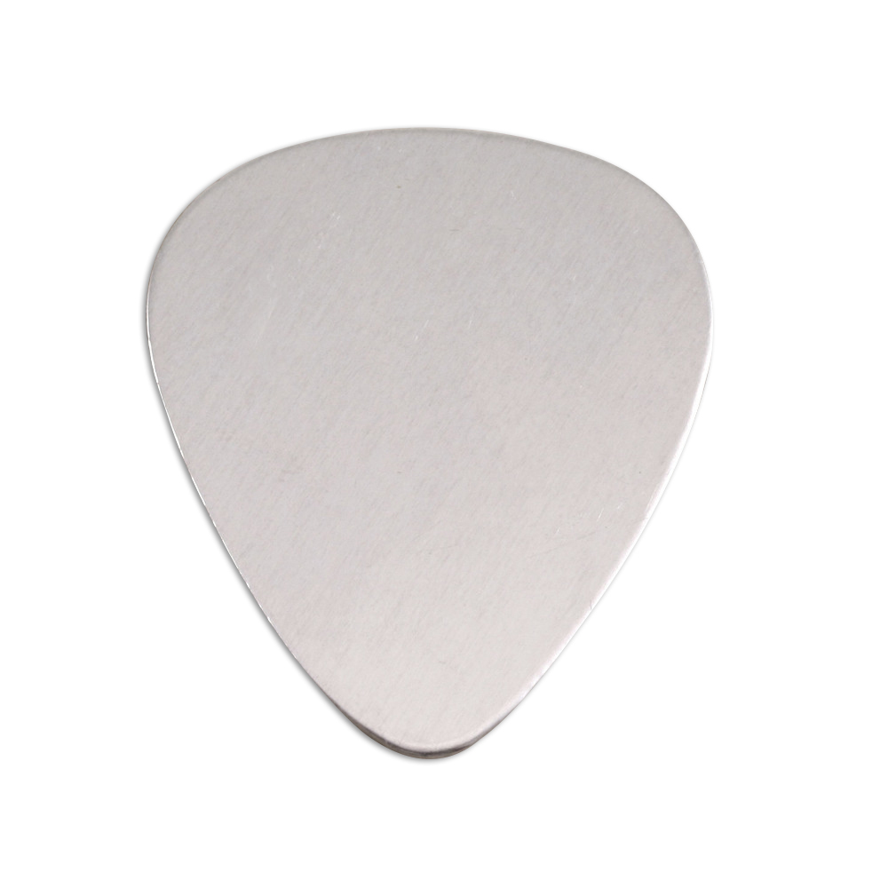 "Metal Stamping Blanks Aluminum Guitar Pick Shape, 30mm (1.18"") x 25.5mm (1""), 18g - Pack of 5"