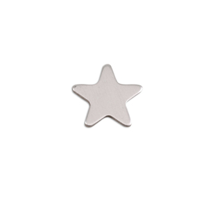 Metal Stamping Blanks Aluminum Small Rounded Point Star, 18g