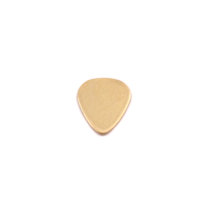 "Metal Stamping Blanks Brass ""Guitar Pick"", 10mm (.40"") x 8.6mm (.34""), 24g"