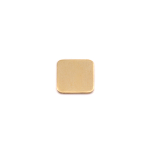 "Metal Stamping Blanks Brass Rounded Square, 8.5mm (.33""), 24g"