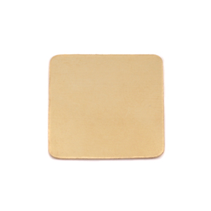"Metal Stamping Blanks Brass Rounded Square, 19mm (.75""), 24 Gauge, Pack of 5"