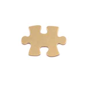 Metal Stamping Blanks Brass Small Puzzle Piece, 24g
