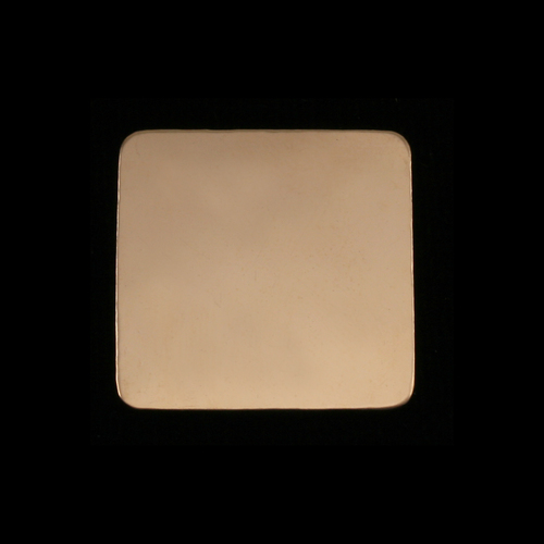 Metal Stamping Blanks Gold Filled Large Rounded Square, 24g