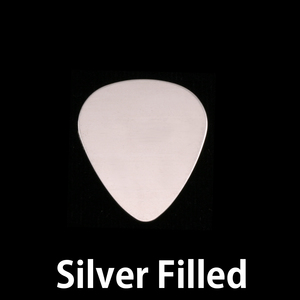 "Metal Stamping Blanks Silver Filled Medium ""Guitar Pick"" Blank, 24g"