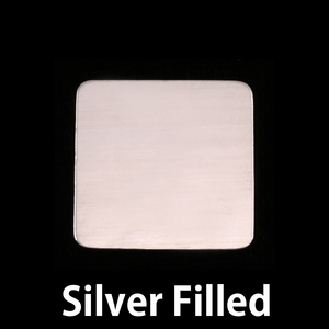 "Metal Stamping Blanks Silver Filled Rounded Square, 19mm (.75""), 24g"