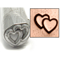 Metal Stamping Tools Double Heart Design Stamp