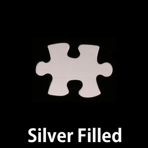 Metal Stamping Blanks Silver Filled Small Puzzle Piece Blank, 24g