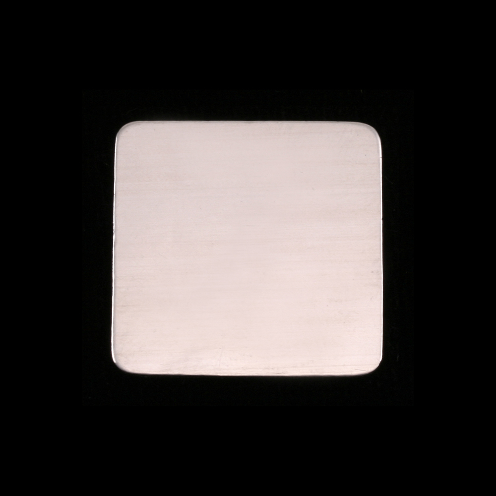 "Metal Stamping Blanks Sterling Silver Large Rounded Square, 19.25mm (.75""), 24g"