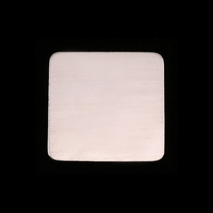 Metal Stamping Blanks Sterling Silver Large Rounded Square, 24g