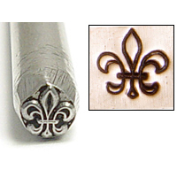 Metal Stamping Tools Fleur de Lis Metal Design Stamp
