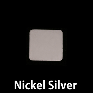Metal Stamping Blanks Nickel Medium Rounded Square, 24g