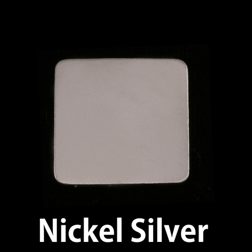 Metal Stamping Blanks Nickel Large Rounded Square Blank, 24g
