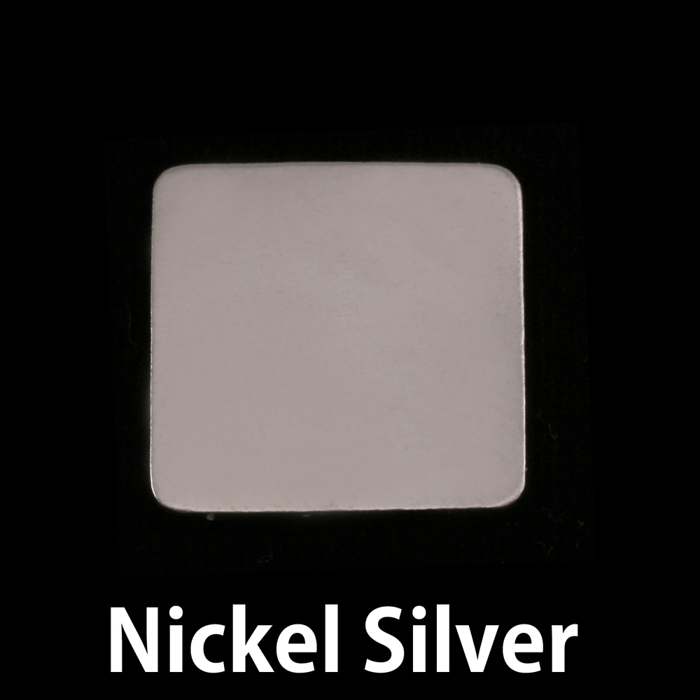"""Metal Stamping Blanks Nickel Large Rounded Square Blank, 19.25mm (.75""""), 24g"""