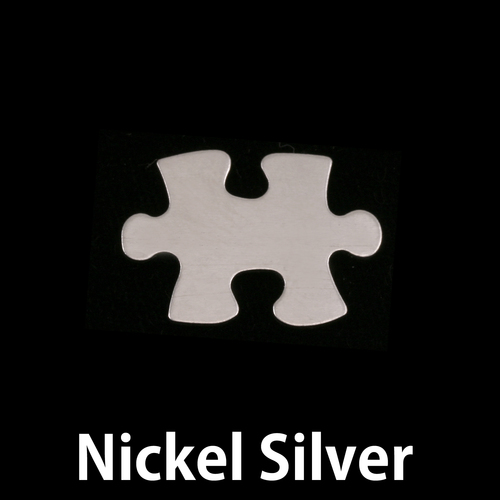 Metal Stamping Blanks Nickel Silver Small Puzzle Piece, 24g