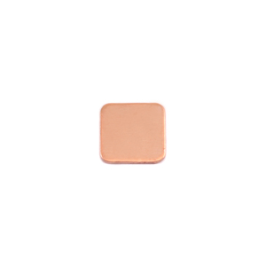 "Metal Stamping Blanks Copper Rounded Square, 8.5mm (.33""), 24g"