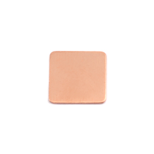 Metal Stamping Blanks Copper Medium Rounded Square, 24g