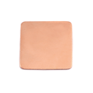 "Metal Stamping Blanks Copper Rounded Square, 19.25mm (.75""), 24g"