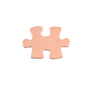 Metal Stamping Blanks Copper Small Puzzle Piece, 24g