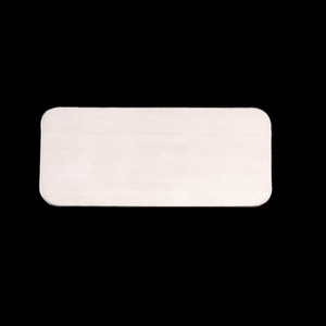 "Metal Stamping Blanks Sterling Silver Rectangle, 44.5mm (1.75"") x 20mm (.79""), 24g"