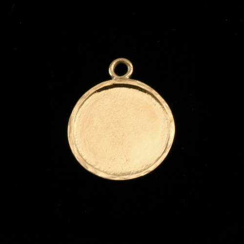 Closeout Gold Plated Circle with Peened Edge