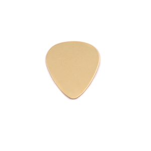 "Metal Stamping Blanks Brass ""Guitar Pick"", 15mm (.60"") x 13mm (.51""), 24g"