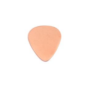 "Metal Stamping Blanks Copper ""Guitar Pick"", 15mm (.60"") x 13mm (.51""), 24g"
