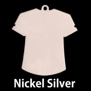 Metal Stamping Blanks Nickel T-Shirt Blank, 24g