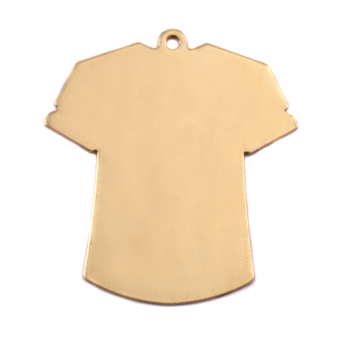 Metal Stamping Blanks Brass T-Shirt Blank, 24g