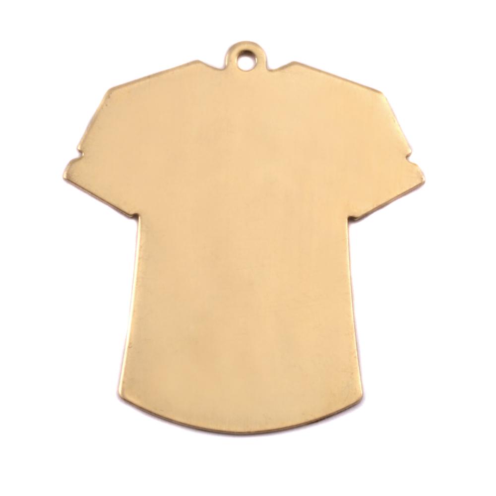 Metal Stamping Blanks Brass T-Shirt Blank, 24g