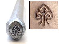 Metal Stamping Tools Heart Finial Design Stamp