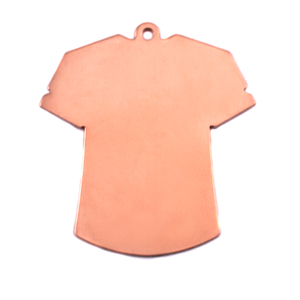 Metal Stamping Blanks Copper T-Shirt Blank, 24g