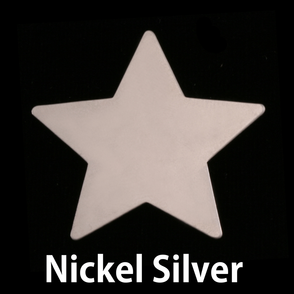 Metal Stamping Blanks Nickel Large Star Blank, 24g