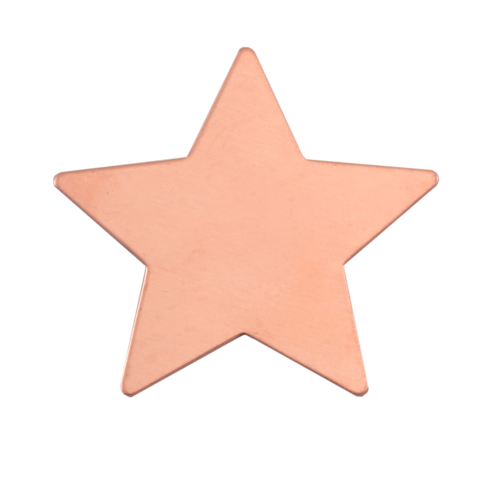 Metal Stamping Blanks Copper Large Star Blank, 24g