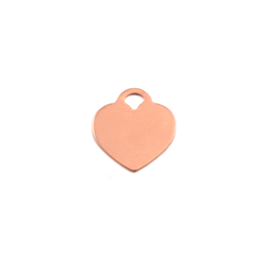 "Metal Stamping Blanks Copper ""Tiffany"" Style Heart, 13mm (.51"") x 12mm (.47""), 24g"