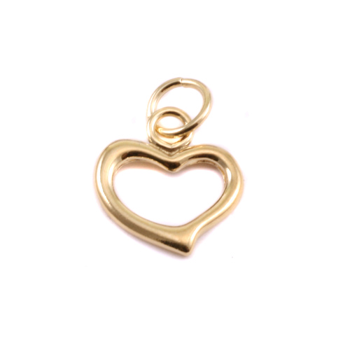 Charms & Solderable Accents Gold Filled Open Heart Charm