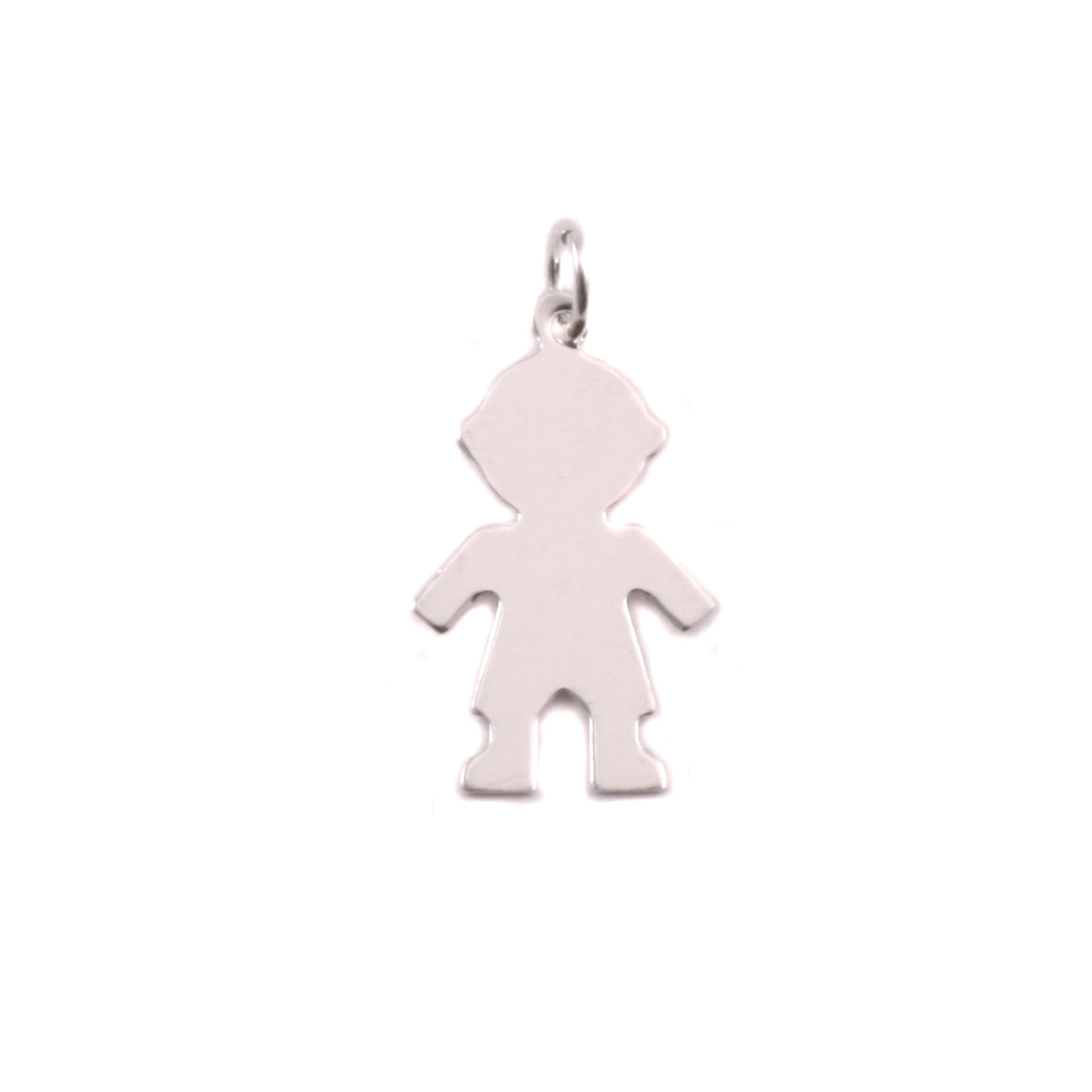 Charms & Solderable Accents Sterling Silver Boy Silhouette Charm
