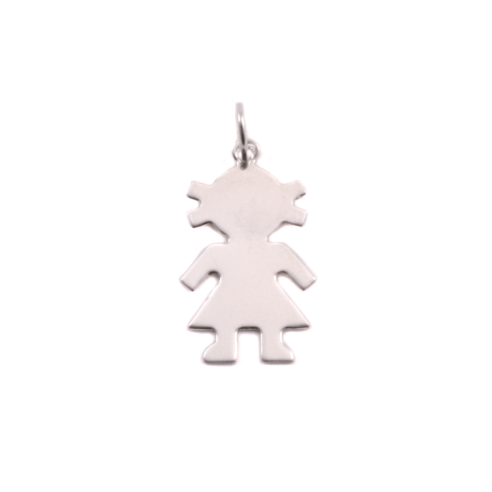Charms & Solderable Accents Sterling Silver Girl Silhouette Charm
