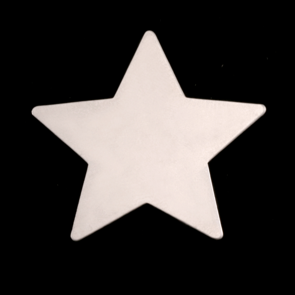 Metal Stamping Blanks Sterling Silver Large Star Blank, 24g